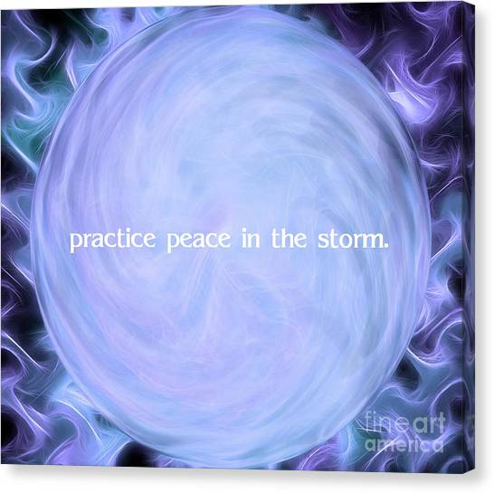 Fire Ball Canvas Print - Practice Peace In The Storm by Krissy Katsimbras