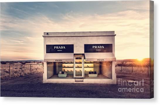 Prada Store Canvas Print