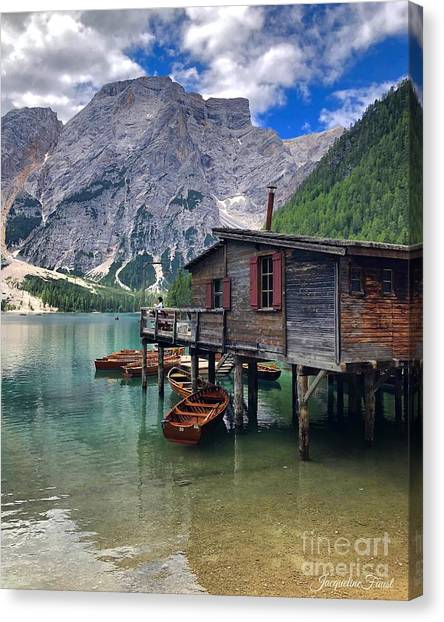 Pragser Wildsee View Canvas Print
