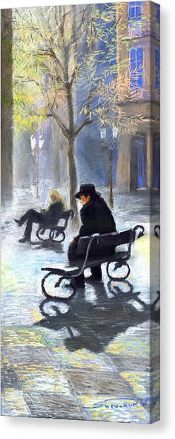 Pastel Canvas Print - Prague Autumn Ray by Yuriy Shevchuk