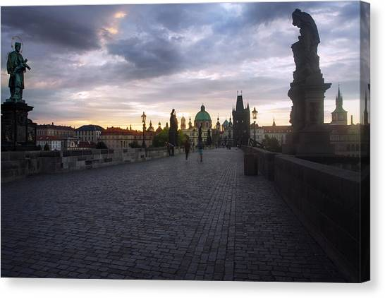 Prague Morning Canvas Print