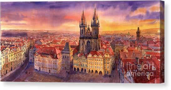 Squares Canvas Print - Prague Old Town Square 02 by Yuriy Shevchuk