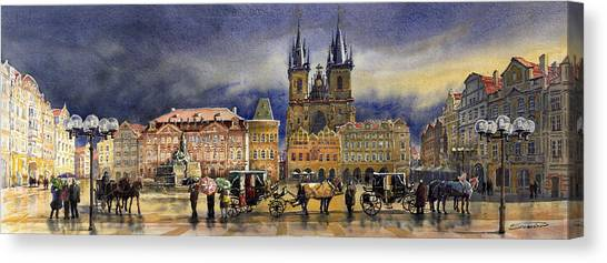 Europe Canvas Print - Prague Old Town Squere After Rain by Yuriy Shevchuk