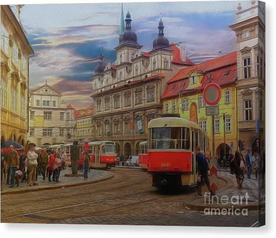 Prague, Old Town, Street Scene Canvas Print