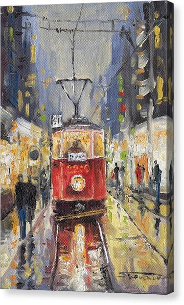 Canvas Print - Prague Old Tram 08 by Yuriy Shevchuk