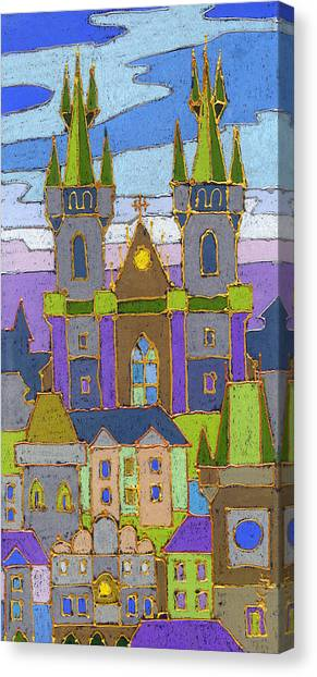 Canvas Print - Prague Panorama by Yuriy Shevchuk