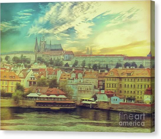 Prague Riverview Canvas Print