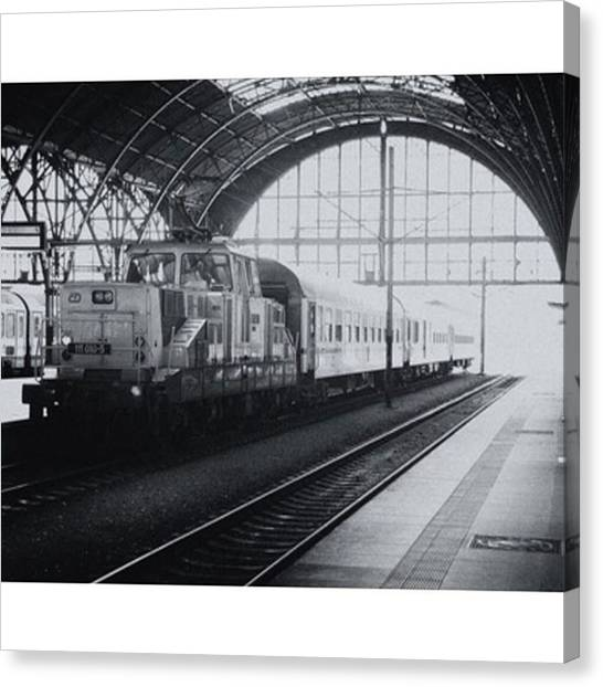 Trainspotting Canvas Print - Prague Train Station. Available by Ivy Ho