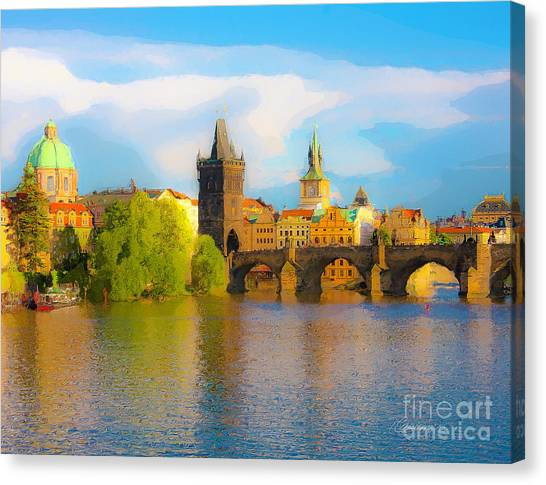 Praha - Prague - Illusions Canvas Print