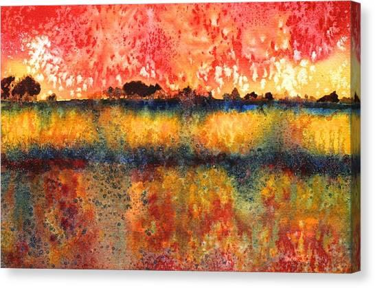 Praire Thunderstorm Canvas Print