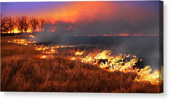 Prairie Burn Canvas Print