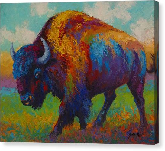 Bison Canvas Print - Prairie Muse by Marion Rose