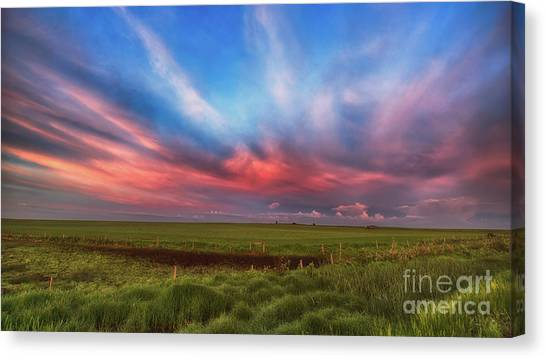 Saskatchewan Canvas Print - Prairie Skies by Ian McGregor