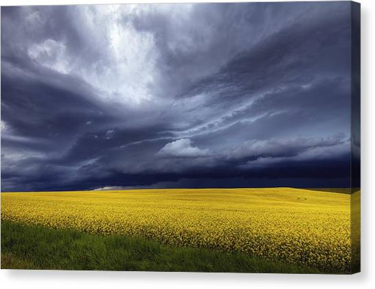 Canvas Print featuring the photograph Prairie Storm by David Buhler