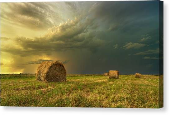 Prairie Storms Canvas Print by Stuart Deacon