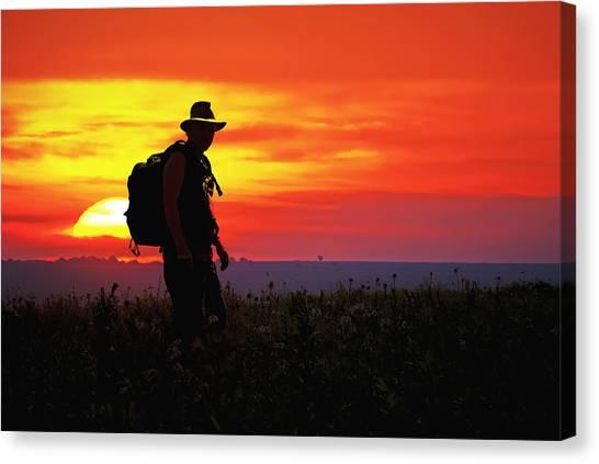 Prairie Sundown Canvas Print by Keith Bridgman