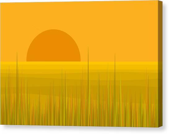 Prairie  Sundown Canvas Print