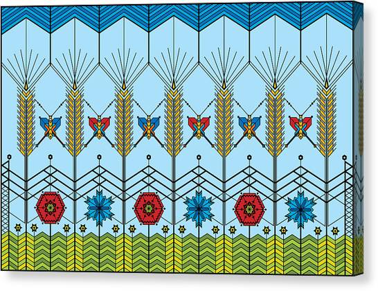 Prairie Wheat Canvas Print by Vlasta Smola