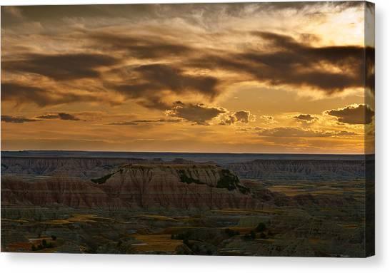 South Dakota Canvas Print - Prairie Wind Overlook Badlands South Dakota by Steve Gadomski