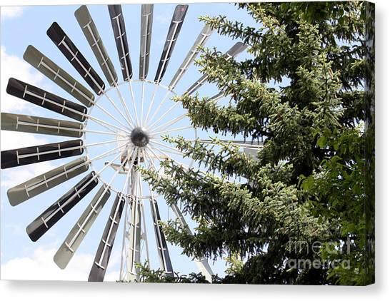 Prairie Windmill Canvas Print