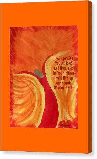 Praise The Lord Canvas Print - Praise Dancer by Yvonne Carson