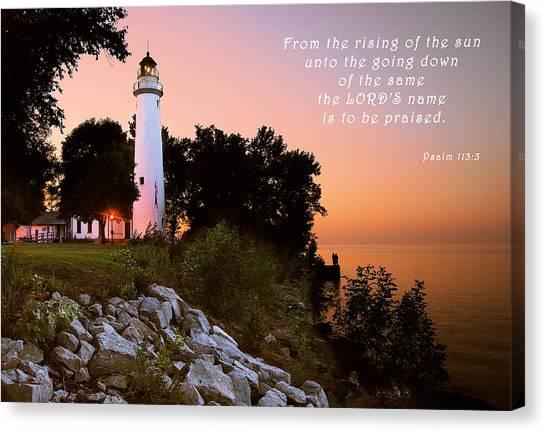 Praise His Name Psalm 113 Canvas Print