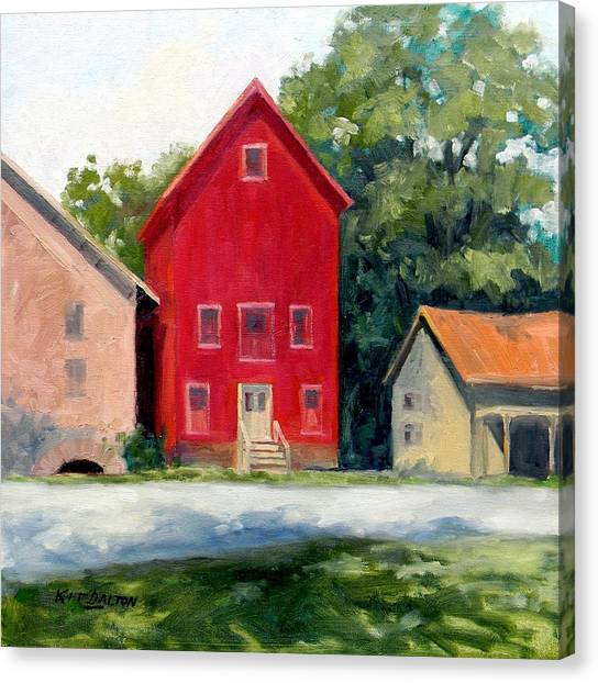 Prallsville Mill Summer Canvas Print by Kit Dalton