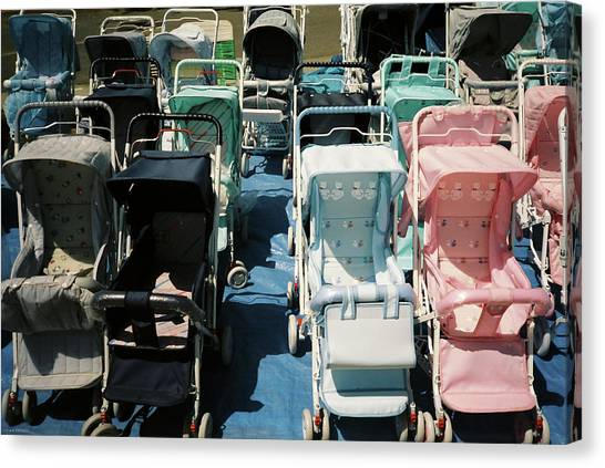 Pram Lot Canvas Print