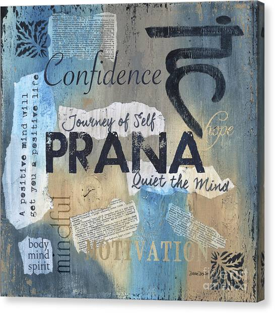 Workout Canvas Print - Prana by Debbie DeWitt