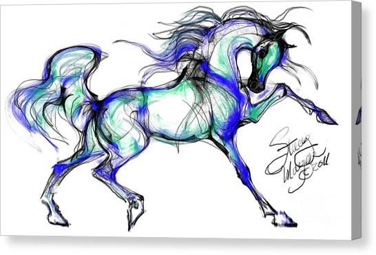 Prancing Arabian Horse Canvas Print