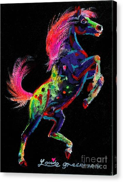 Prancing Pony Canvas Print by Louise Green