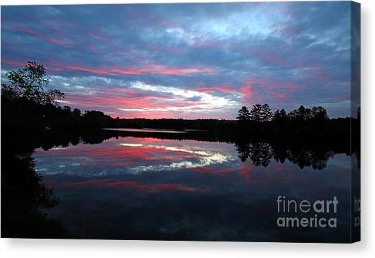 Jft Canvas Print - Prat Pond Sunrise by James F Towne