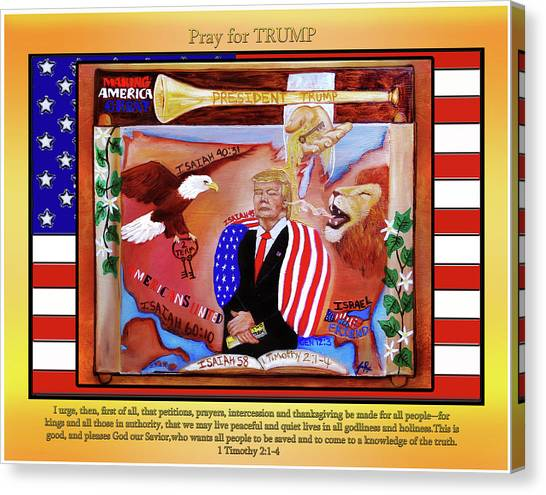 Pray For President Trump Canvas Print