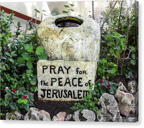 Pray For The Peace Of Jerusalem Canvas Print