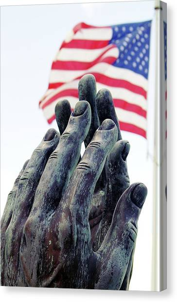 Pray For The Usa Canvas Print
