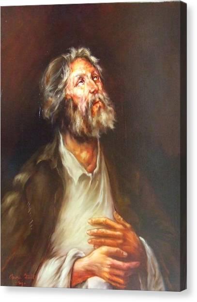Prayer Canvas Print by Ciprian Stratulat