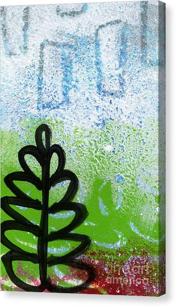 Circle Canvas Print - Prayer Flags by Linda Woods