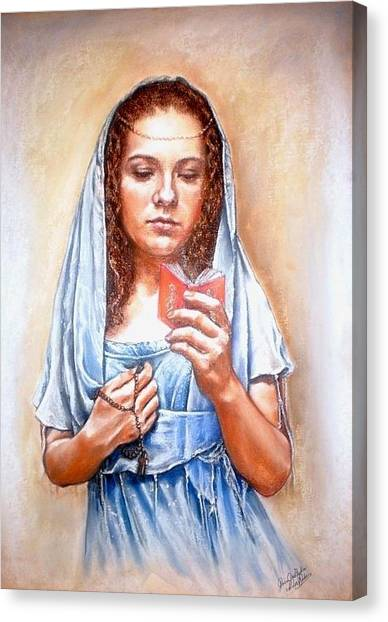 Prayer Canvas Print by Gordana Dokic Segedin