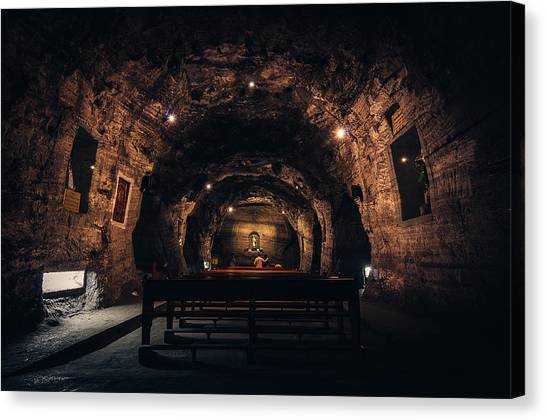 Prayer In The Mines Canvas Print