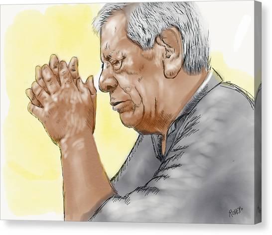 Prayer Of A Righteous Man Canvas Print