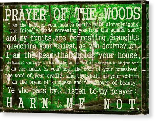 Prayer Of The Woods 2.0 Canvas Print