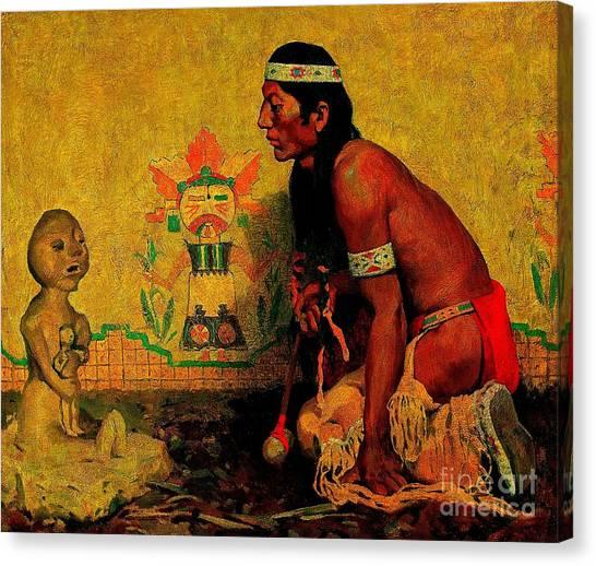 Prayer To The Rain God Canvas Print