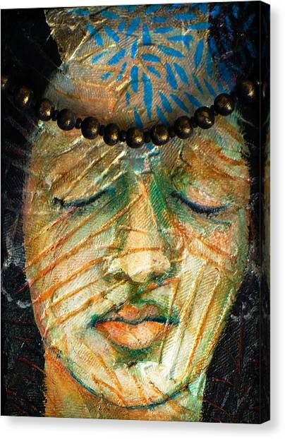 Prayers For The Ancestors Canvas Print by Sue Reed