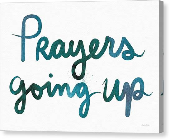 Sympathy Canvas Print - Prayers Going Up- Art By Linda Woods by Linda Woods