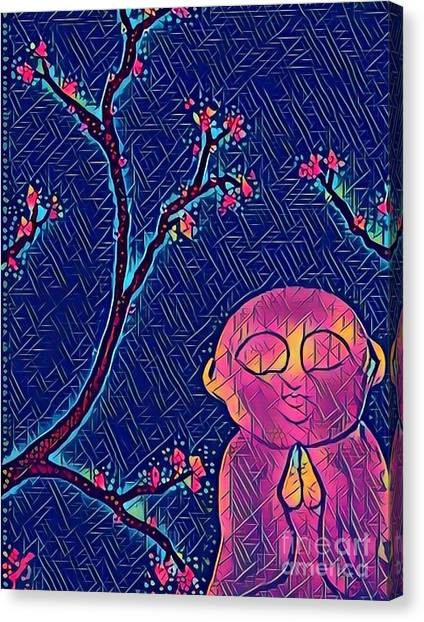 Praying Buddha Canvas Print