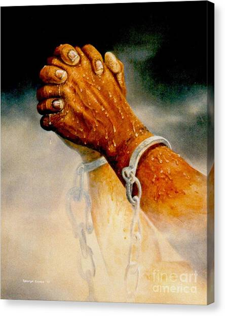 Praying Hands Canvas Print by George Combs