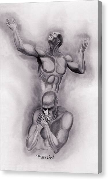 Prays God Canvas Print
