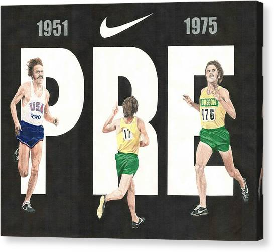 Track And Field Canvas Print - PRE by Chris Brown