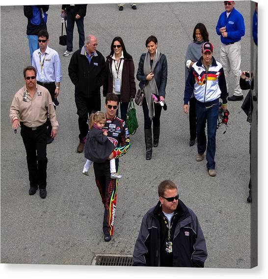 Jeff Gordon Canvas Print - Pre-race Walk by Mitchell Christopher