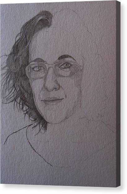 Pre Sketch For Clare Pencil Canvas Print by Ray Agius